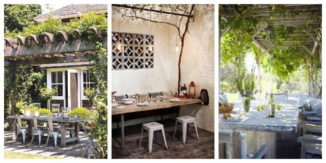 OUTDOOR DINING IDEAS