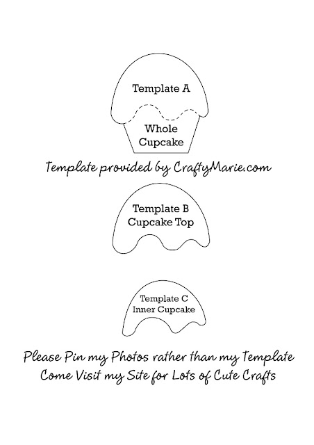 cupcake pattern template by craftymarie