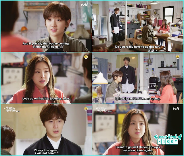 hye ji agreed to go on the vacation and ji won refuse  - Cinderella and Four Knights - Episode 7 Review - I Love Her, I Love Her Not