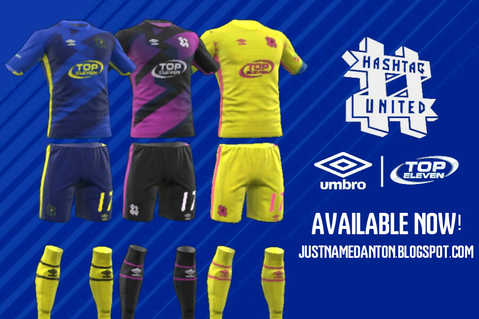 HASHTAG UNITED Kits DLS/FTS