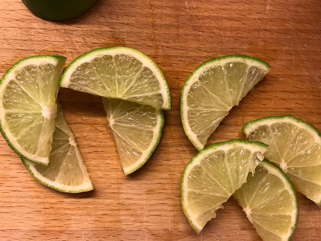 Chopped limes