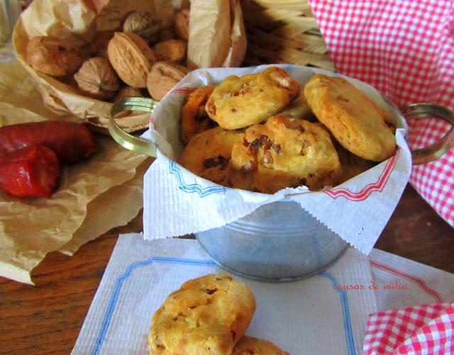Cookies con chorizo y nueces