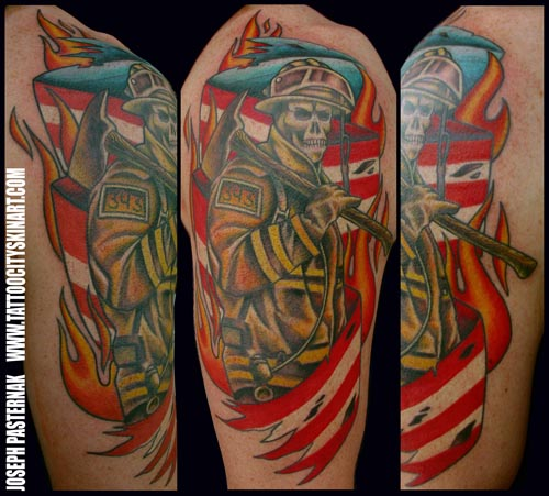 TATTOOS DESIGN: Firefighter Tattoos, Designs, Pictures
