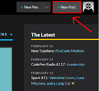 Bagian pojok atas kanan klik +New post