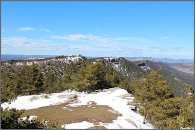 Cumbres de la Sierra De Valdemeca vistas desde Collado Bajo
