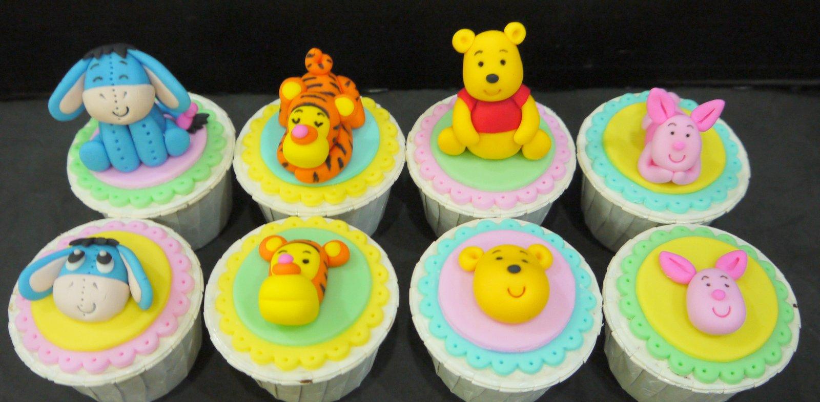 Cupcake Divinity Pooh Theme Cupcakes