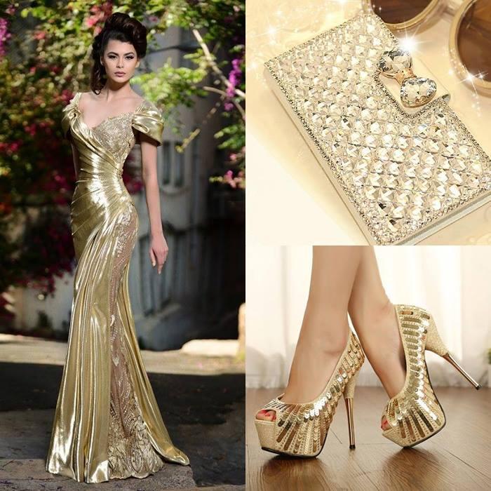 Vestido de Novia Elegante y Moderno, zapatos y bolso