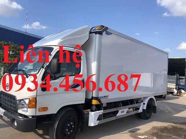 Giá lăn bánh xe tải 8 tấn New Mighty 2017 thùng đông lạnh
