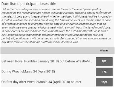 'When Will AJ Styles Drop The WWE Championship?' Betting Odds