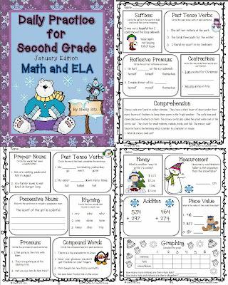 http://www.teacherspayteachers.com/Product/Daily-Practice-for-Second-Grade-January-1034272