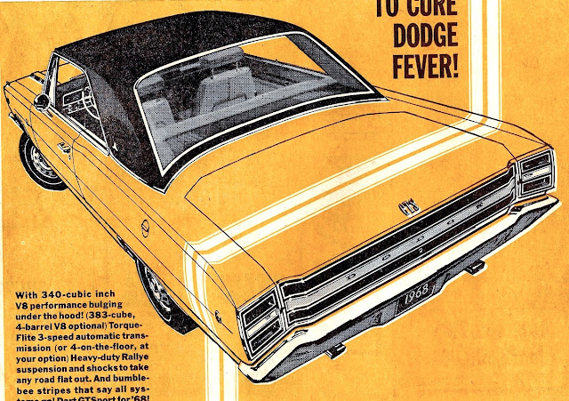 Charlie Allen 1968 Dodge orange muscle-car illustration