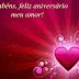 Parabéns, feliz aniversário meu amor!