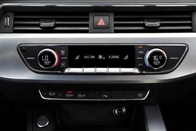 Novo Audi A4 2017 - interior - ar-condicionado tri-zone