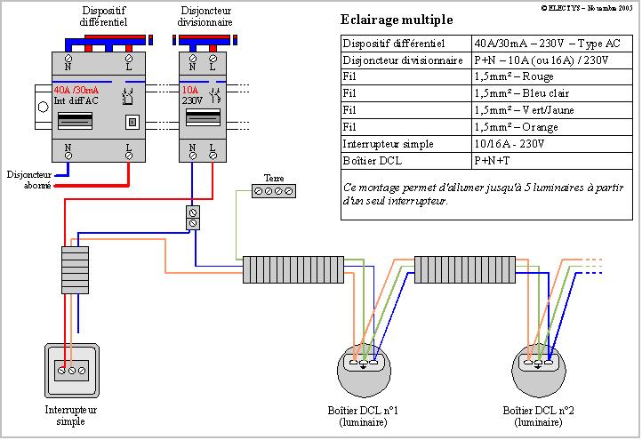 sch mas electriques schema simple allumage et double allumage. Black Bedroom Furniture Sets. Home Design Ideas