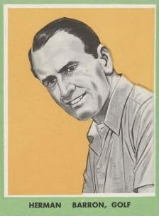 golfer Herman Barron sports trading card