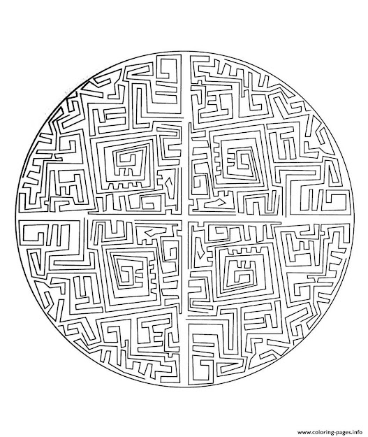 Print Free Mandala To Color Maze Coloring Pages Free Printable With  Incredible Wild Kratts Coloring Pages