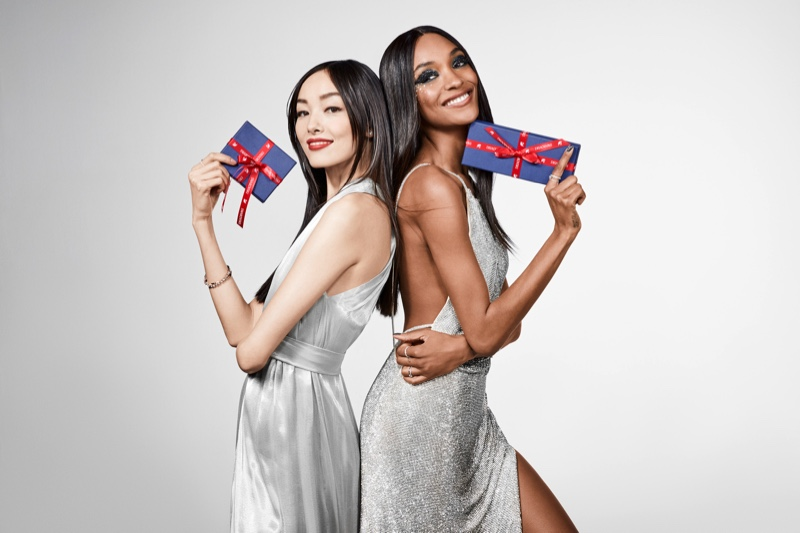 Fei Fei Sun and Jourdan Dunn star in Swarovski's Holiday 2017 campaign