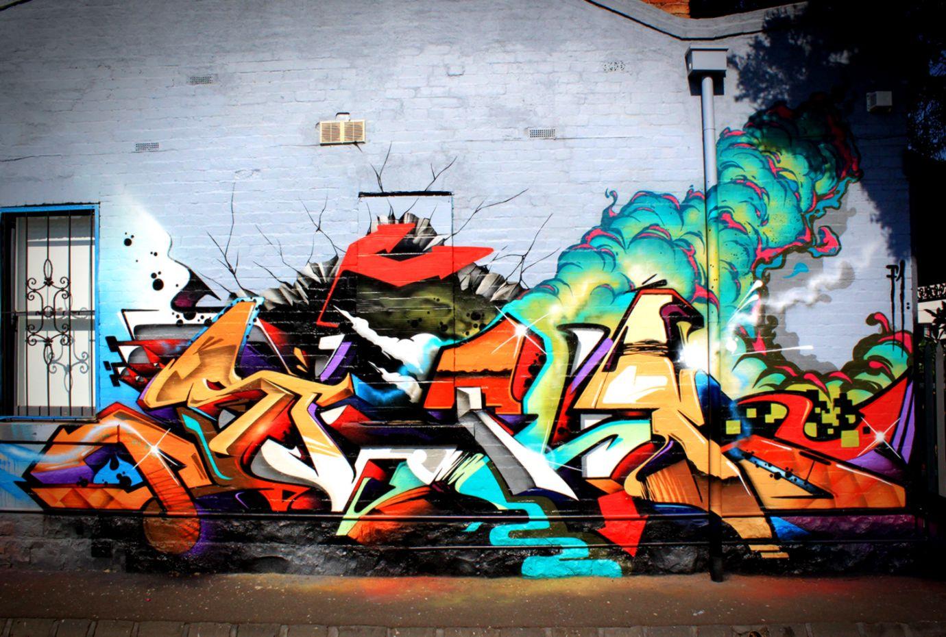 Graffiti Wall Hotel Wallpaper Hd Mikespike123