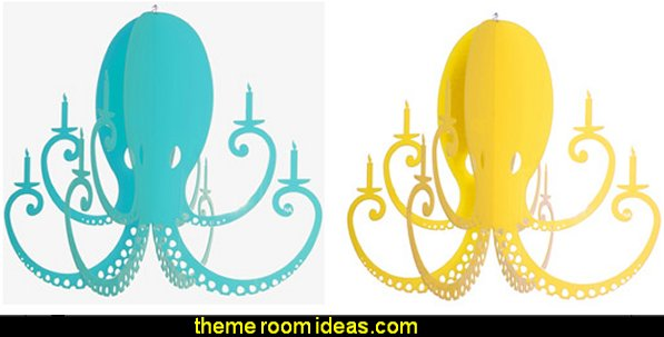 Octopus Chandelier underwater theme bedroom lighting