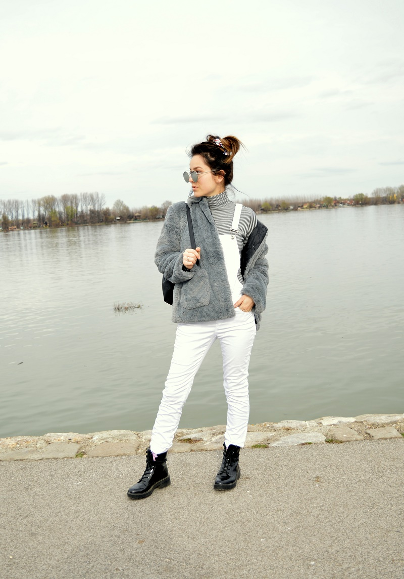 grey teddy jacket coat