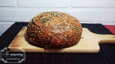 фаршированный хлеб в духовке