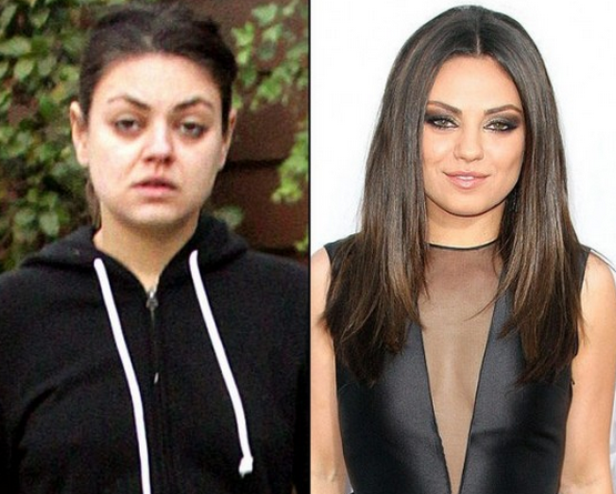 Mila Kunis Tanpa Make Up