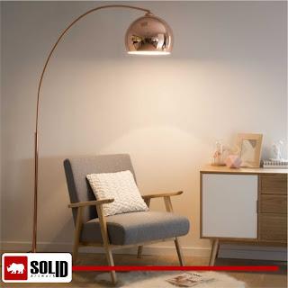 sphere copper floor lamp