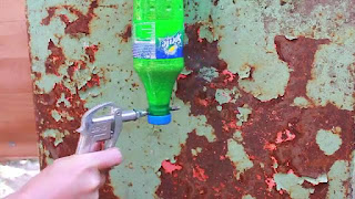 membuat sendiri mesin sandblasting dari botol bekas