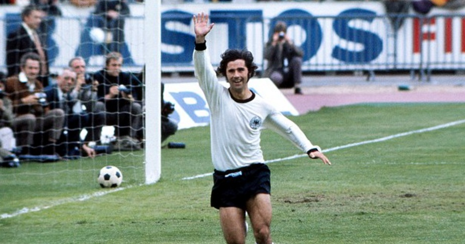 Gerd Mullar scores 13 World Cup goals for West Germany