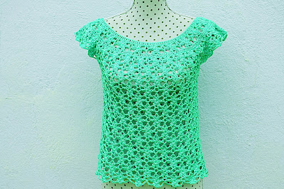 4 - Crochet Imagen Blusa de mujer a crochet muy rapido y facil de hacer a ganchillo. Majovel Crochet.
