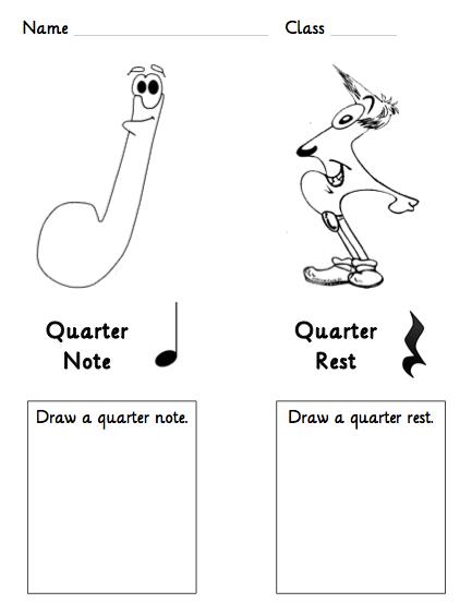 music coloring pages quarter rest - photo#10