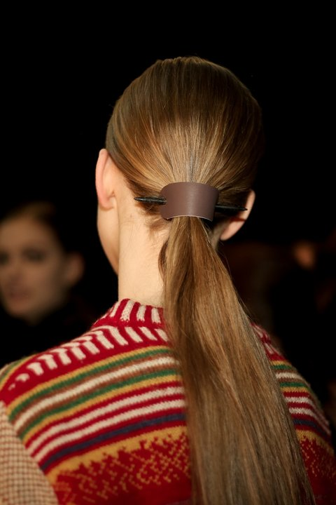new product 09857 2477d It was seen on the Chanel runways, but in truest form at the Derek Lam  show. The ponytail holders look FAB with the long, sleek low ponytail style  of the ...