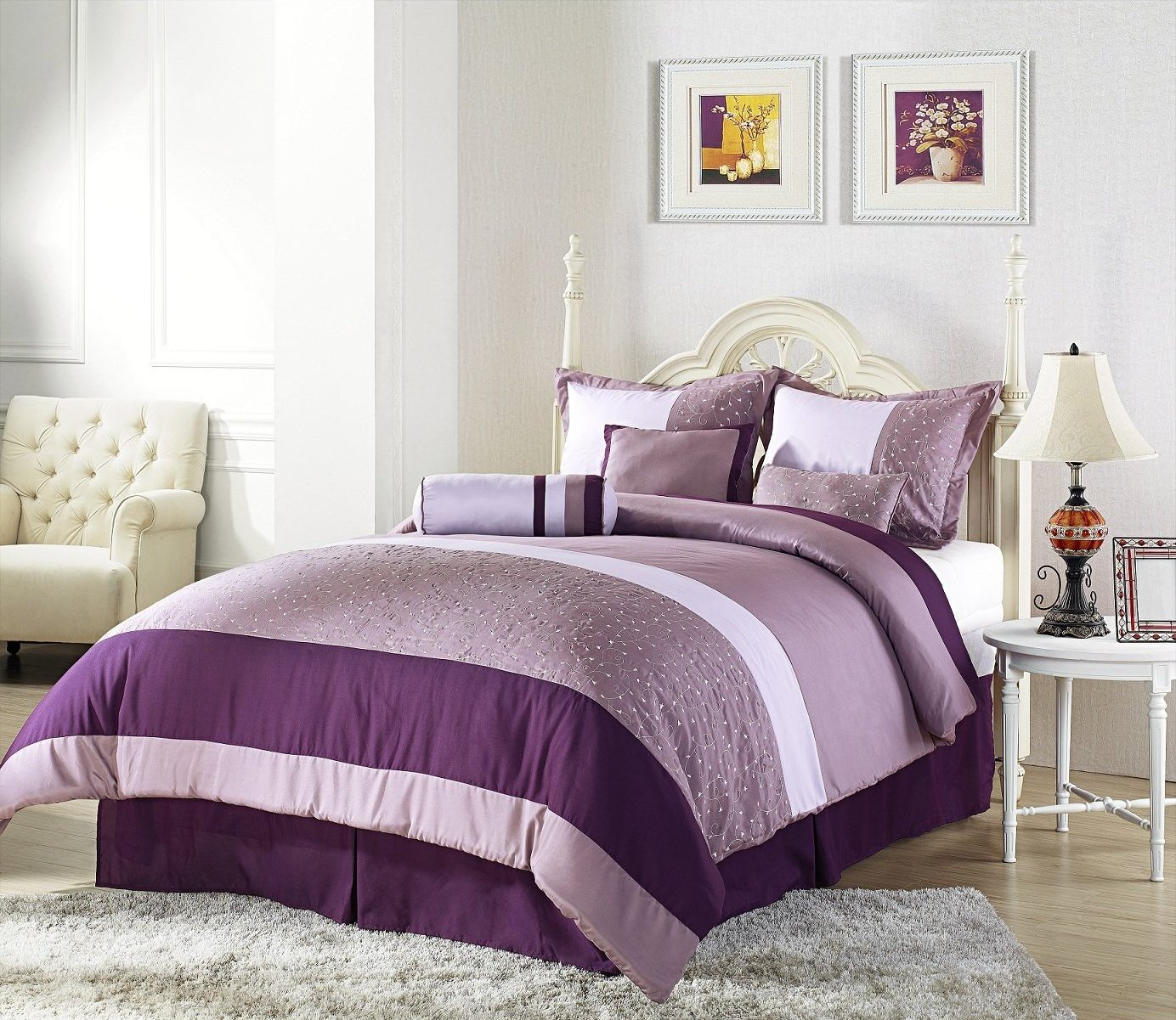 Simple purple bedroom interior - Email Thisblogthis