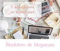 résolutions de blogueuses