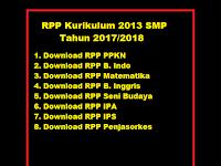 RPP Kurikulum 2013 SMP Tahun 2017/2018