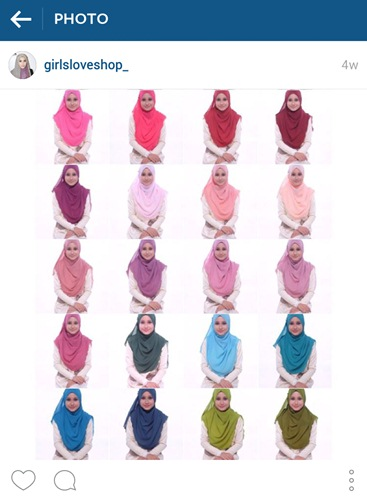 Antara koleksi warna wide shawl kosong @girlsloveshop_