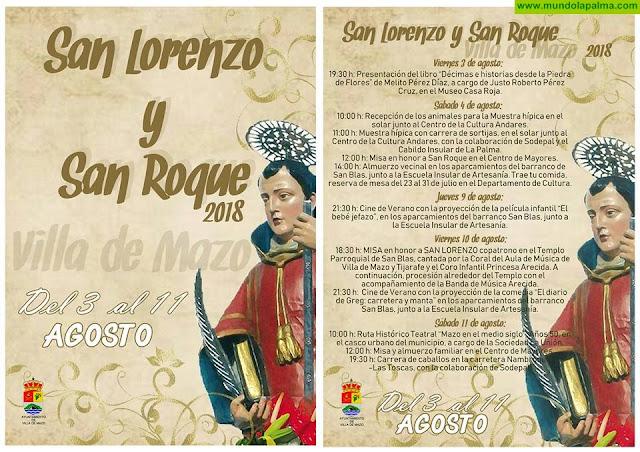 Programa Fiestas San Lorenzo y San Roque 2018 Villa de Mazo