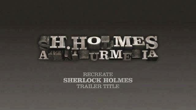 Recreate Sherlock Holmes Title in Cinema 4D