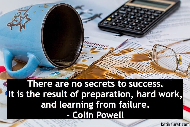 there are not secrets to success