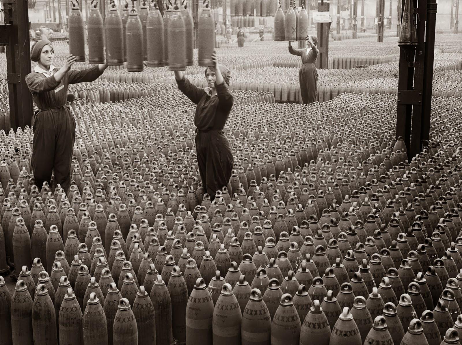 World Of Technology Munitions Factory During World War 1