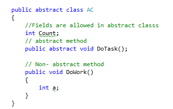 Abstract Class Vs Interface in C#.Net