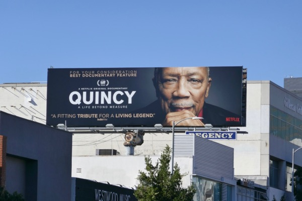 Quincy documentary consideration billboard