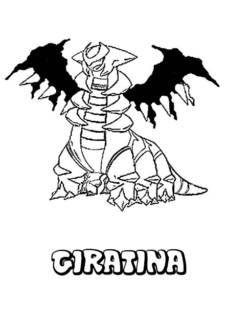 Pokemon Coloring  Ghost Pokemon Coloring Pages  Giratina Pokemon Coloring  Page