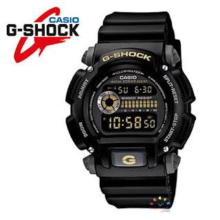 CASIO G-Shock DW-9052-1CCG Military Watch (Gold Illumination Edition)
