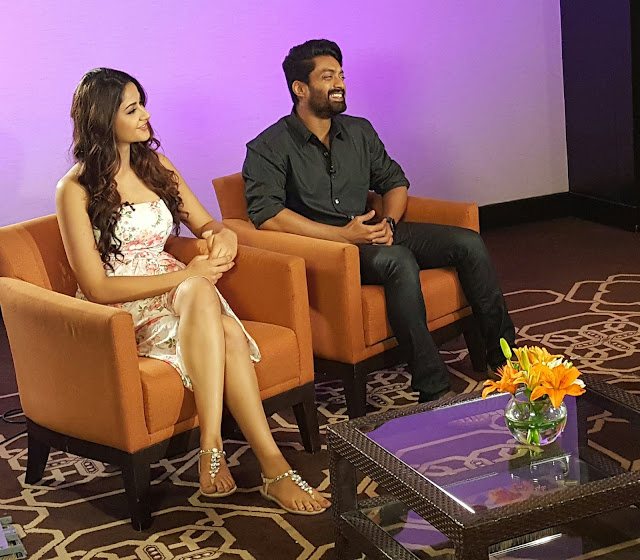 Kalyan ram, Aditi arya participated  in TV Promotions for ISM.
