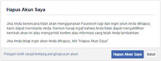 Cara menghapus akun Facebook anda secara permanen, Begini Caranya