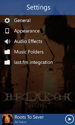 Music Mode Settings Page