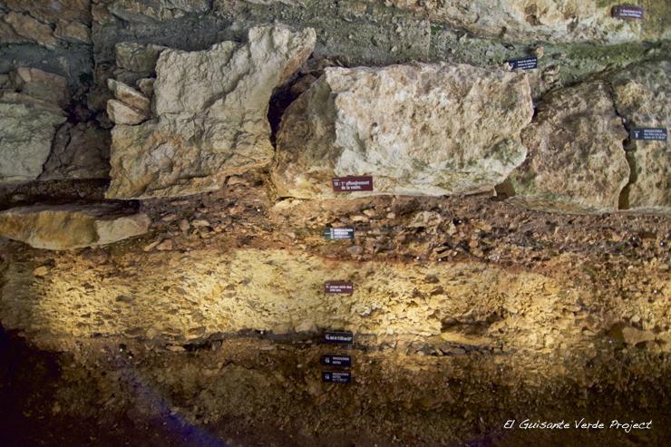 Laugerie Basse Estratigrafia, Les Eyzies de Tayac - Dordoña Perigord por El Guisante Verde Project