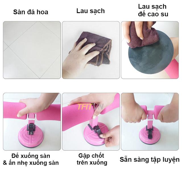 hướng dẫn sử dụng: Dụng cụ tập bụng tập bụng tại nhà