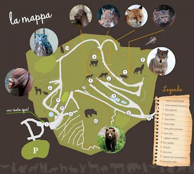Mappa Parco Faunistico di Spormaggiore